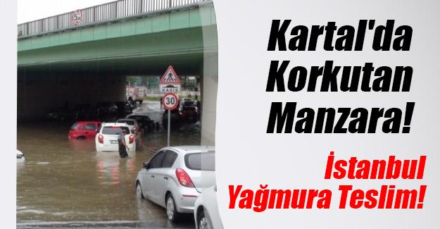 İstanbul Kartal'da park halindeki araçlar suya gömüldü! Son dakika gelişmesi...