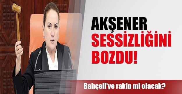 Meral Akşener Bahçeli'ye rakip mi olacak? Akşener sessizliğini bozdu!