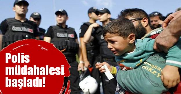 Sığınmacılarla polis arasında arbede yaşandı
