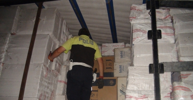 150 bin paket kaçak sigara çıktı!