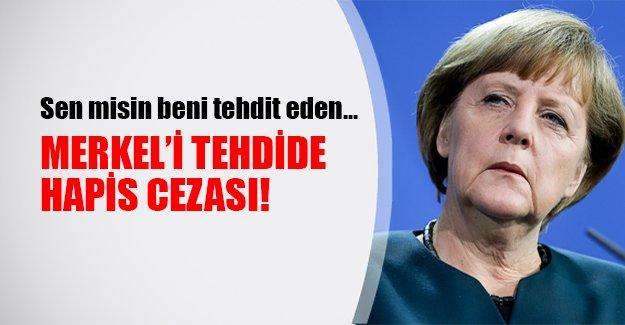 Almanya Başkanı Merkel'i tehdit eden adama hapis cezası verildi!