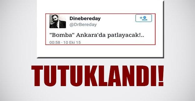 Ankara saldırısının ömceden bilen twitter kullanıcısı tutuklandı! Flaş son dakika...