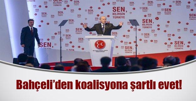 Bahçeli seçim bildirgesini açıkladı! İşte MHP'nin koalisyon şartları...