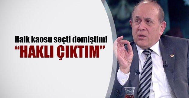 """Burhan Kuzu'dan Kılıçdaroğlu'na yanıt: """"Halk kaosu seçti demiştim, haklı çıktım"""""""