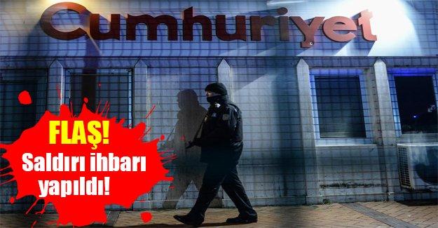 Cumhuriyet Gazetesi'ne bomba ihbarı! Flaş son dakika gelişmesi (30.10.2015)