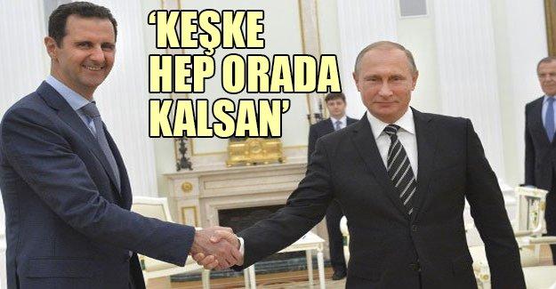 Davutoğlu Esed'in Rusya ziyaretini değerlendirdi: 'Keşke hep orada kalsan'