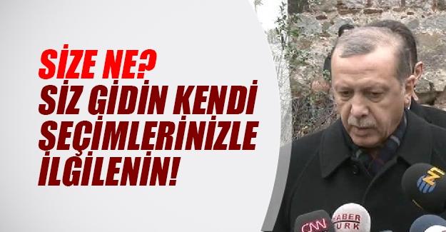 """Erdoğan yabancı medyaya seslendi: """"Siz kendi ülkenizdeki seçimlerle ilgilenin"""""""