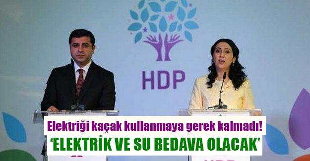 HDP'nin seçim vaadi: 'Elektrik ve su bedava olacak'