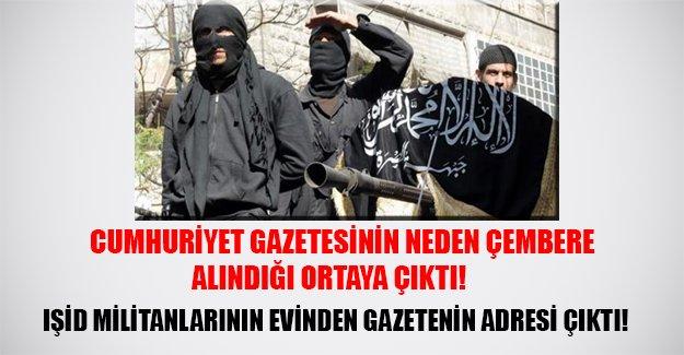 IŞİD hücre evinden Cumhuriyet Gazetesi'nin adresi ve eylem planı çıktı! Gazetenin çevresi bu yüzden çembere alındı...