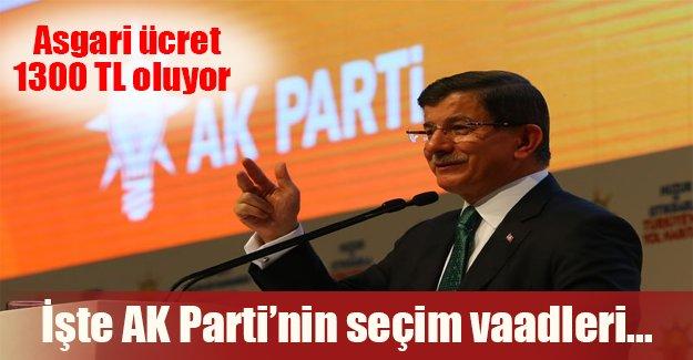 İşte AK Partinin seçim vaadleri! Asgari ücret ne kadar oluyor?