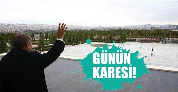 İşte günün karesi! Erdoğan 150 metreden kalabalığı selamladı...