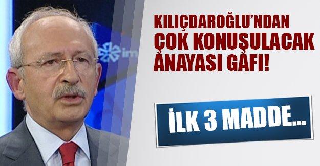 Kılıçdaroğlu büyük bir gafa imza attı! Kemal Kılıçdaroğlu'nun anayasa hakkında flaş ifadelerde bulundu!