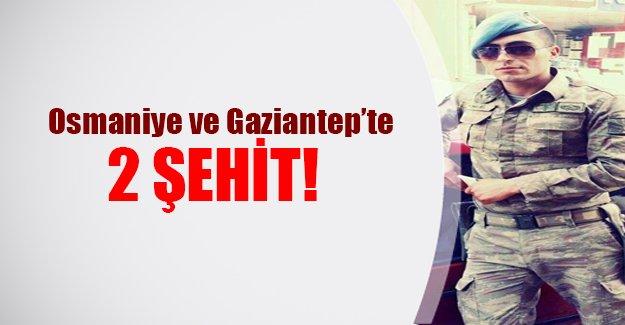 Osmaniye ve Gaziantep'ten şehit haberi geldi! 2 asker şehit düştü...