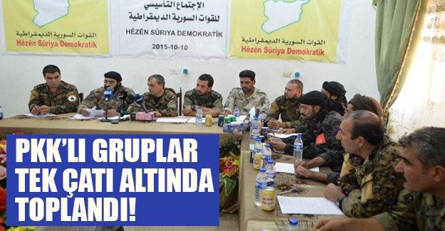 PKK'lı gruplar tek çatı altında toplandı! ABD ise desteğe devam edeceğini duyurdu