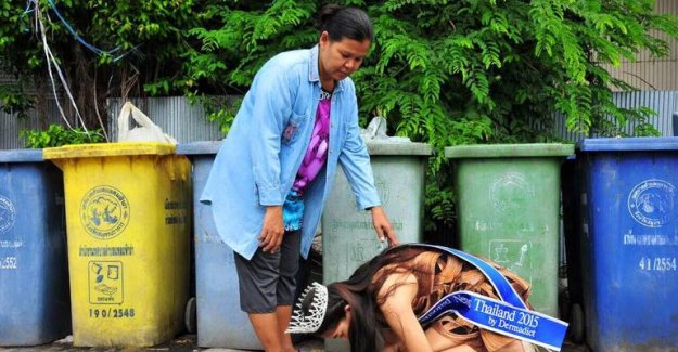 Tayland güzellik kraliçesi çöp toplayıcısı çıktı!