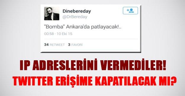 Twitter erişime kapatılıyor mu? Terör şüphelilerinin IP adresleri Türk yetkililere verilmedi!