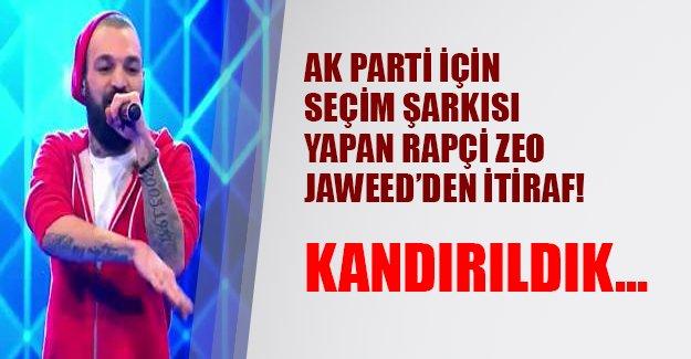 """Zeo Jaweed'den seçim şarkısı açıklaması: """"Kandırıldık"""""""