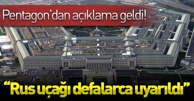 ABD'den ''uçak'' açıklaması! Pentagon Türkiye'yi doğruladı!
