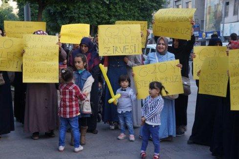 Adana'da G20 zirvesi protesto edildi