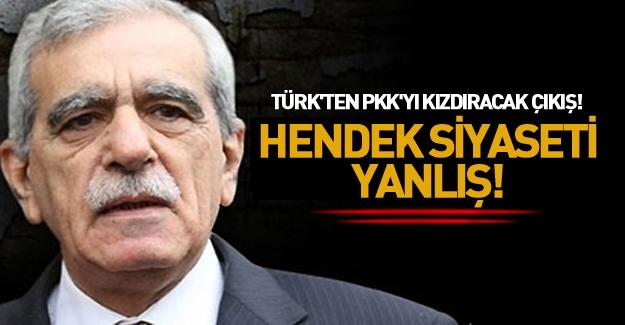 Ahmet Türk'ten PKK'ya hendek eleştirisi