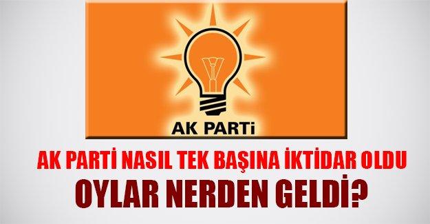 AK Parti nasıl tek başına iktidar oldu? Oylar nerden geldi?