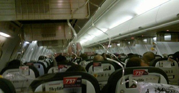 Alkollü yolcu havada paniğe neden oldu!