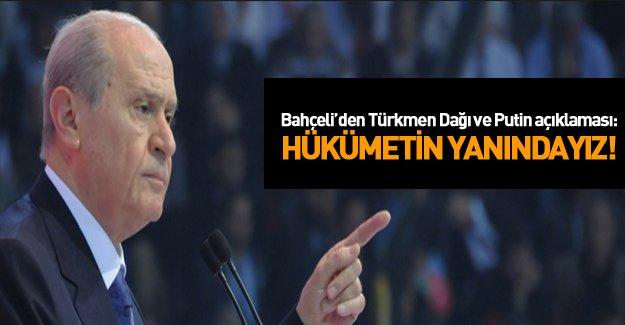 Bahçeli'den Türkmen Dağı açıklaması!