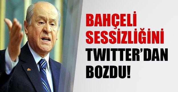 Bahçeli sessizliğini twitter'dan bozdu! İşte MHP liderinin flaş açıklamaları...