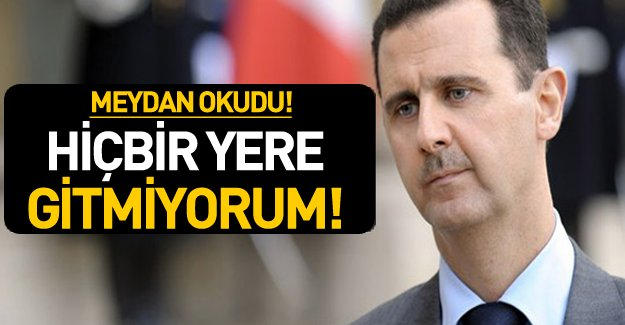 Beşar Esed'den IŞİD çıkışı! Görevi bırakmayacağım!