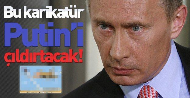 Bu karikatür Putin'i çıldırtacak! Arap medyasından ''Uçak krizi''ni özetleyen karikatür!