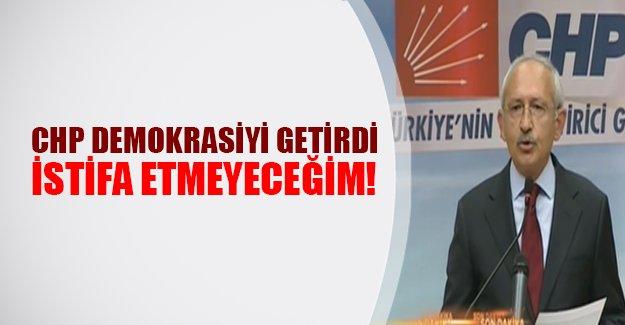 CHP lideri Kılıçdaroğlu istifa edecek mi? Kılıçdaroğlu o soruya yanıt verdi