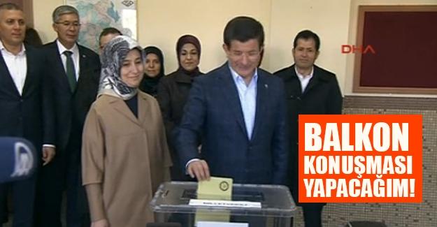 """Davutoğlu oyunu Konya'da kullandı: """"Balkon konuşması yapacağım"""""""