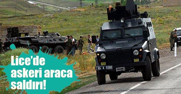 Diyarbakır Lice'de askeri araca roketatarlı saldırı düzenlendi!