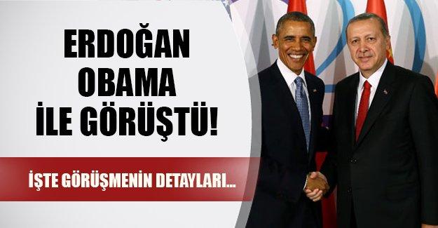 Erdoğan Obama ile görüştü! İşte beklenen görüşmenin ayrıntıları