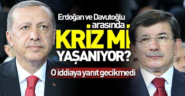 Erdoğan ve Davutoğlu arasında kriz mi yaşanıyor? O iddiaya yanıt gecikmedi!