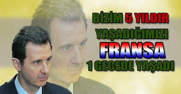 Esad'dan Paris saldırısına Suriye benzetmesi