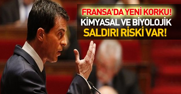 Fransa Başbakanı Valls: Kimyasal ve biyolojik saldırı tehlikesi var