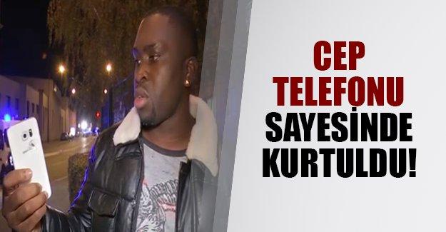 Fransa'da mucize kurtuluş yaşandı! Fransız adamı cep telefonu kurtardı