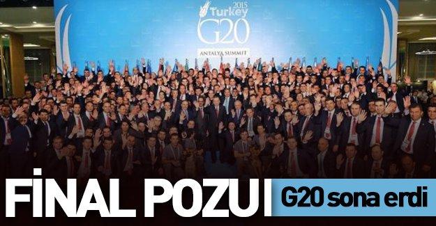 G20 bu görüntü ile sona erdi!