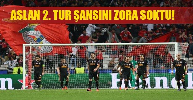 Galatasaray deplasmanda Benfica'ya yenildi! Aslan'ın iki tur şansı zora girdi