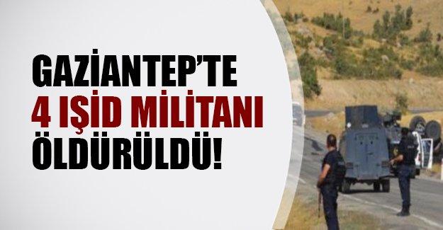 Gaziantep'te polisle IŞİD militanları çatıştı! 4 terörist öldürüldü