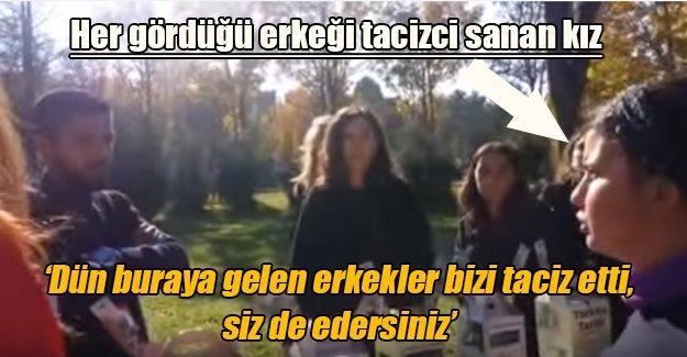 Hacettepe Üniversitesi'nde her gördüğü erkeği sapık sanan feminist kızlar kameralara takıldı!