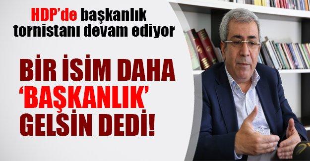 """HDP'de başkanlık tornistanı devam ediyor! Diyarbakır milletvekili İmam Taşçıer """"başkanlık gelsin"""" dedi"""