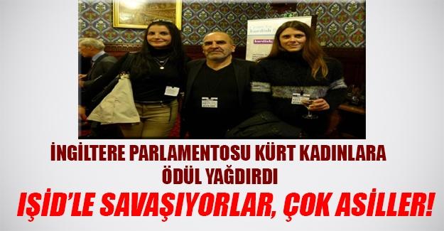 """İngiliz Parlamentosu """"savaşçı"""" Kürt kadınlarına ödül yağdırdı!"""