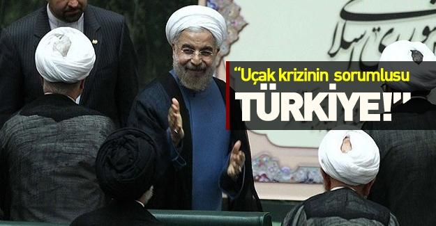 İran Cumhurbaşkanı uçak krizinde Türkiye'yi suçlu ilan etti!