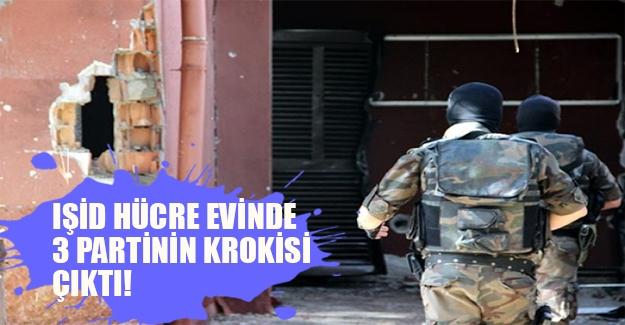 IŞİD'in kan donduran eylem planı! Diyarbakır'daki hücre evinden 3 partinin krokileri çıktı (Flaş son dakika gelişmesi)