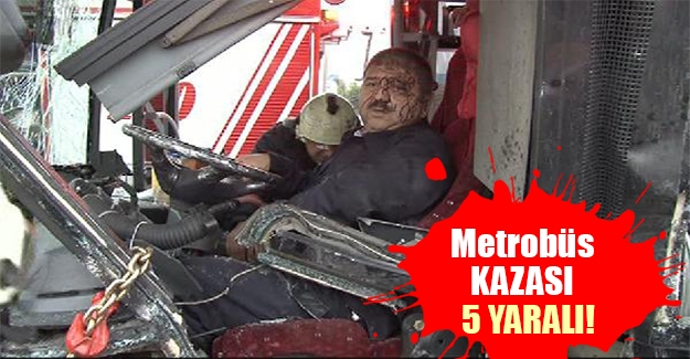 İstanbul Avcılar-Şirinevler hattında metrobüs ile otomobil çarpıştı! Yaralılar var...