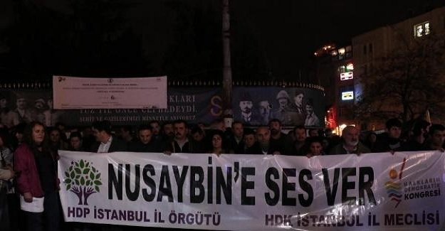 İstanbul Beyoğlu'nda HDP eylemi!