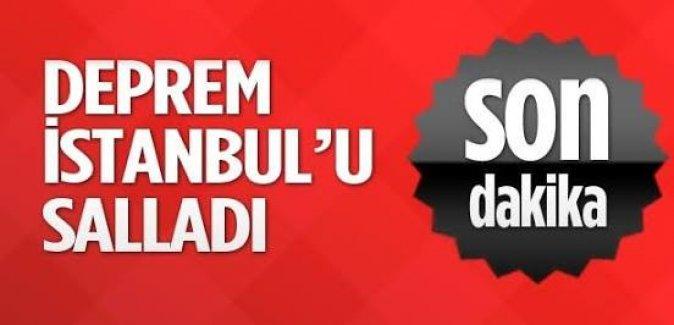 İstanbul'da deprem şoku! 4,2 büyüklüğünde deprem meydana geldi