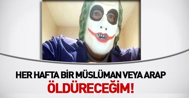 Joker Maskeli Adamdan Müslümanlara Ölüm Tehdidi!